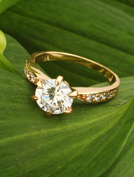Sell image depicting wealth represented by a diamond ring